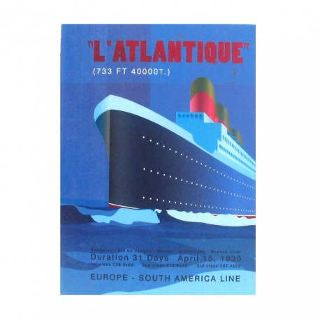 Agenda nedatata Letts of London, Retro Boat