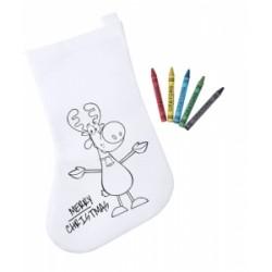 Soseta Craciun de colorat pentru copii, Plicom