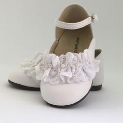 Pantofi din piele cu fundita, BABYWALKER