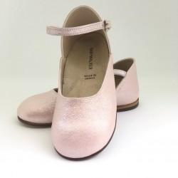 Pantofi piele sidefati BABYWALKER