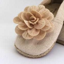 Espadrile panza cu floricica BABYWALKER