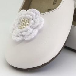 Pantofi cu fundita si perlute BABYWALKER