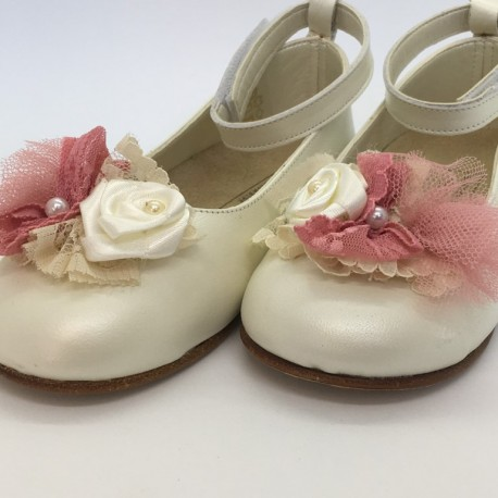 Pantofi din piele cu fundita BABYWALKER