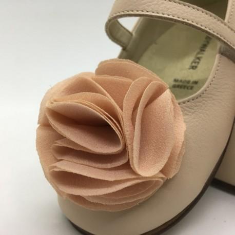 Pantofi impodobiti cu floricica BABYWALKER
