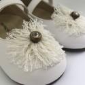 Pantofi cu floricica BABYWALKER
