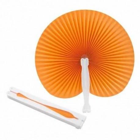 Evantai din hartie cu maner de plastic, portocaliu, Stilo