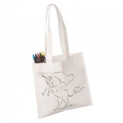 Sacosa de colorat pentru copii, Unicorn