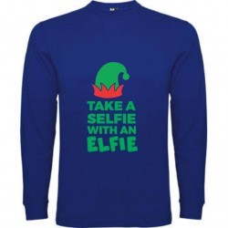 Tricou copil cu maneca lunga, Take a selfie with an elfie