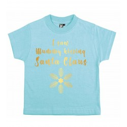 Tricou copil I saw mummy kissing Santa Claus