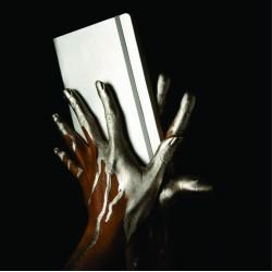 Notebook deluxe A5 coperta metalizata argintie
