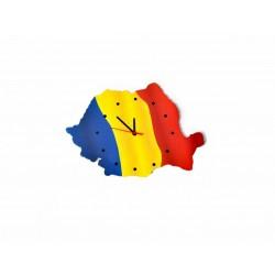 Ceas harta Romaniei Marea Unire