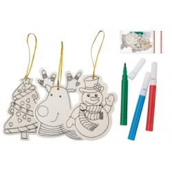 Set colorat ornamente de brad