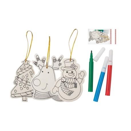 Set colorat ornamente de brad